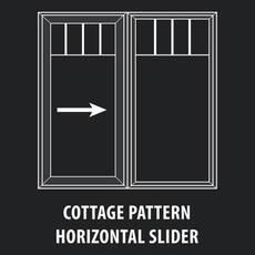 Thermoproof Windows & Doors - Mutin Cottage Pattern Horizontal Slider Window
