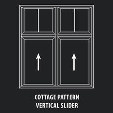 Thermoproof Windows & Doors - Mutin Cottage Pattern Vertical Slider Window